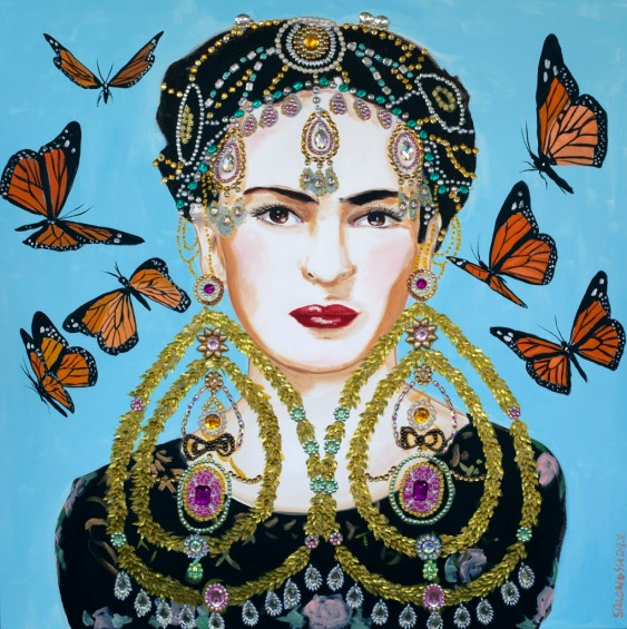 Frida-With-Butterflies-and-Bling-Ear-Rings-email-IMG_0164-1-1020x1024